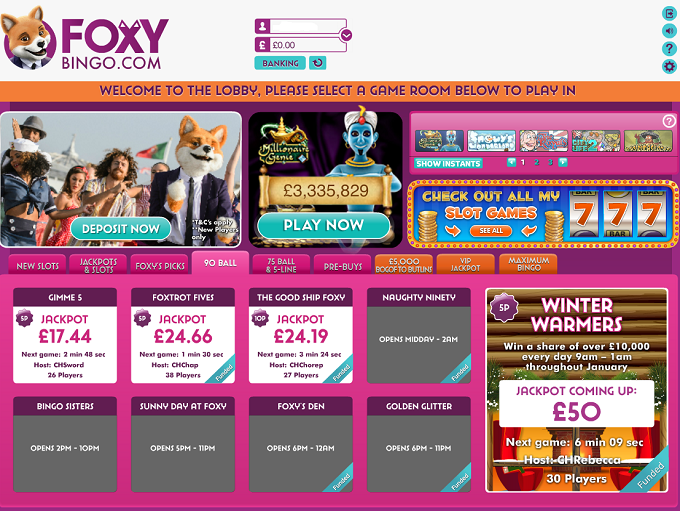 Foxy Bingo Review – The Expert Ratings and User Reviews
