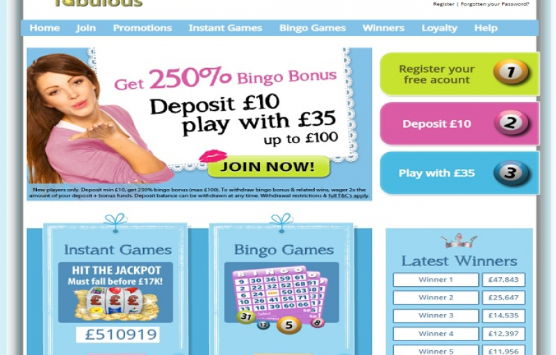 Bingo fabulous promotion coded