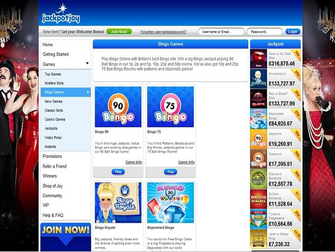 jackpot bingo login