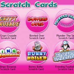 Jackpot city bingo scratchcards screenshot