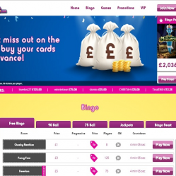 Cheeky Bingo Home Page