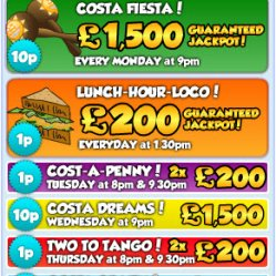 jackpots at costa bingo