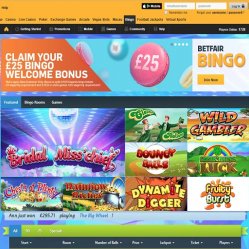 Betfair Bingo Home Page
