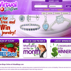 Virtual Bingo Home Page