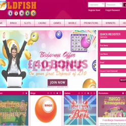 GoldFish Bingo Home Page