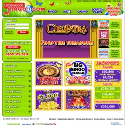littlwoods bingo homepage screenshot