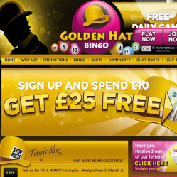 Golden Hat Bingo Home Page