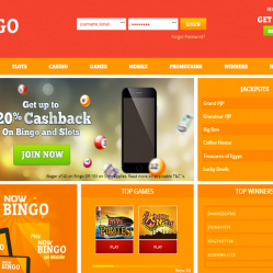 Now Bingo Home Page