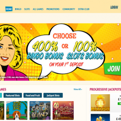 Bingo Extra Home Page