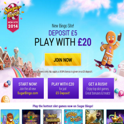 Sugar Bingo Home Page