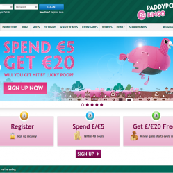 paddy power bingo homepage screenshot