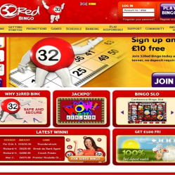 32 red bingo homepage screenshot