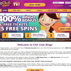 Chit Chat Bingo Home Page