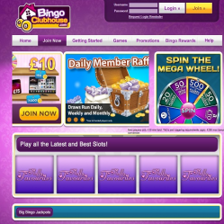 Bingo Clubhouse Home Page