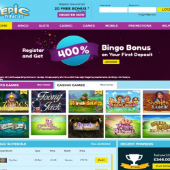 Epic Bingo Home Page