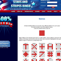 Stars and Stripes Bingo Lobby