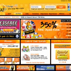 Bingo Beez UK Homepage