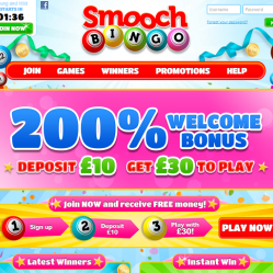 Smooch Bingo Homepage