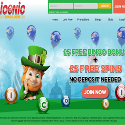 Iconic Bingo Home Page