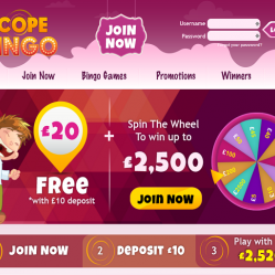 Scope Bingo Home Page