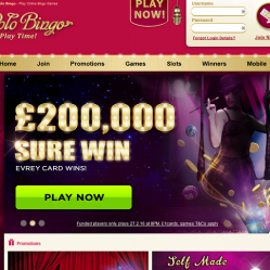 Polo Bingo Homepage Screenshot