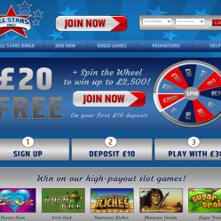 All Stars Bingo Home Page