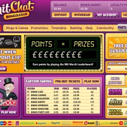Chit chat bingo homepage screenshot