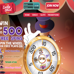 Lucky Wheel Bingo Home Page