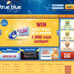 True Blue Bingo Home