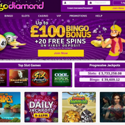 Bingo Diamond Home Page