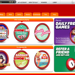 Offers and promotions at Sun bingo