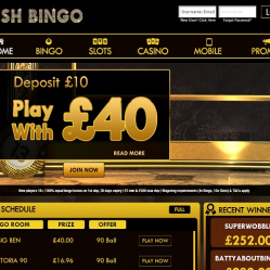 Plush Bingo Home Page