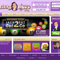 Butlers Bingo Home Page