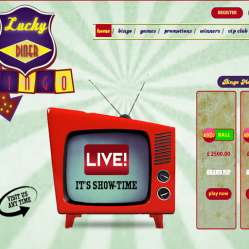 Lucky Diner  Bingo Home Page