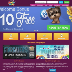 Bingo House Homepage