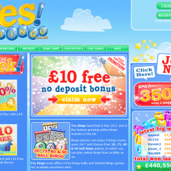 Yes Bingo Home Page