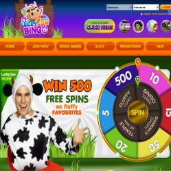 LuckyCow Bingo Home Page