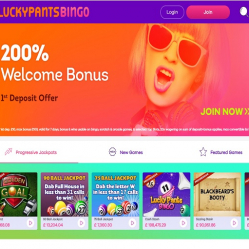 Lucky Pants Bingo Home Page