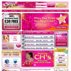 Bingo Hollywood Home Page