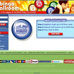 bingoball room homepage