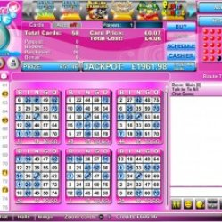 Gina bingo 75 ball screenshot