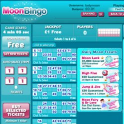 moon bingo lobby screenshot