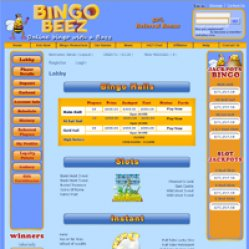 Bingo beez lobby screenshot