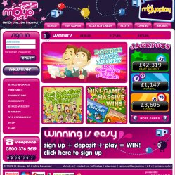 Moyo bingo homepage screenshot