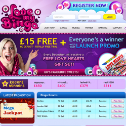Love My Bingo Home Page