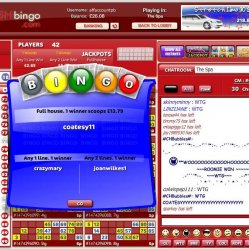 Poshbingo in game bingo room screenshot