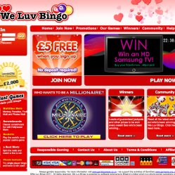 We Luv Bingo Homepage