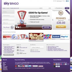 sky bingo homepage screenshot