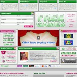 bingo playground homepage screenshot