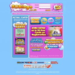 so bingo homepage
